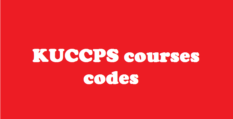 Kuccps courses codes