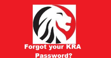 forgot my kra password