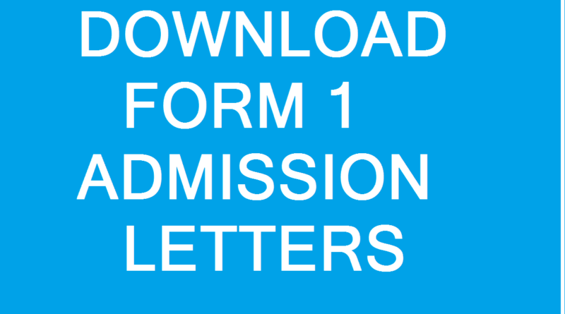 form one admission letters