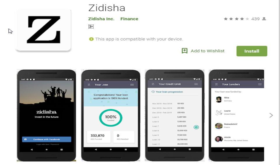 Zidisha Loan App