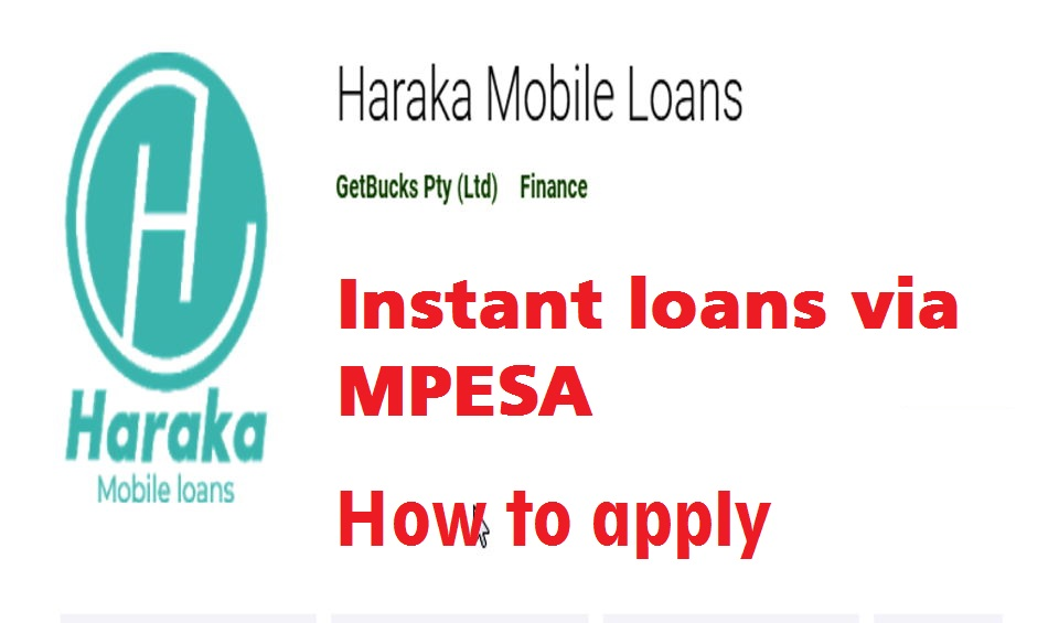 Haraka loan application just takes about three minutes or less.