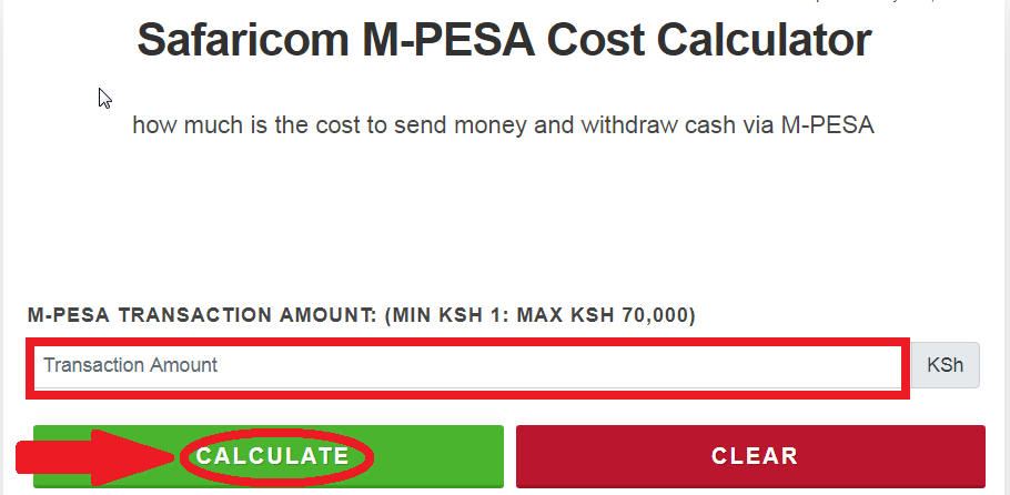mpesa sending charges