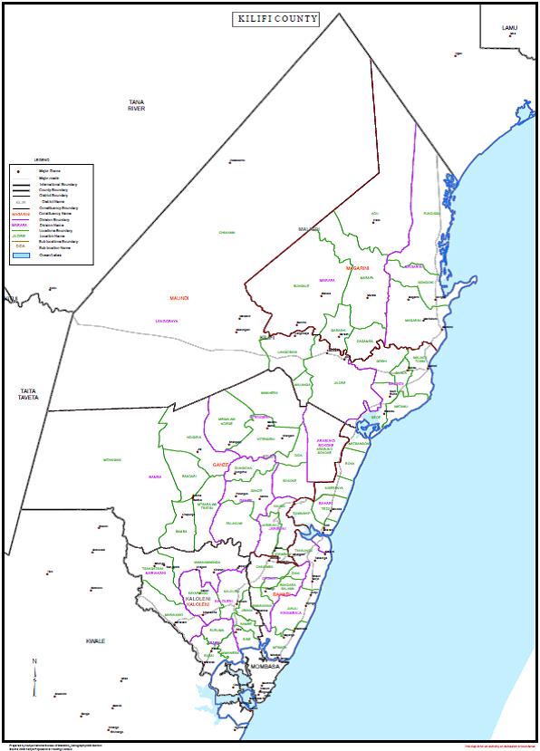 Kilifi county sub counties