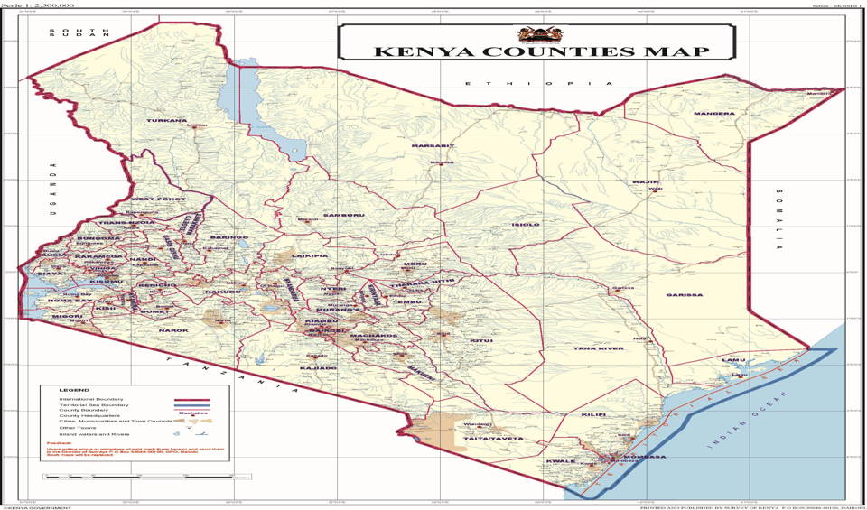 Sub counties in Kenya